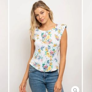 Floral Muscle Top